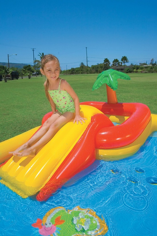 Piscina gonfiabile oceano playground intex con scivolo e spruzzi skizzo bimbi - Intex piscina gonfiabile ...