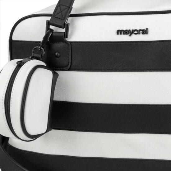 borsa bianco nera mayora12l