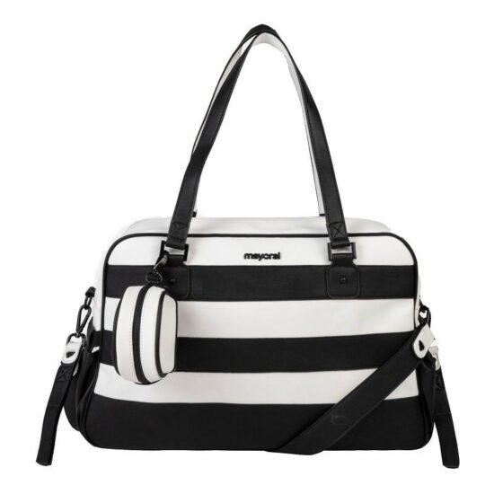 borsa bianco nera mayoral