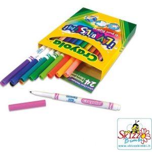 Crayola 24 Pennarelli Ultra Lavabili