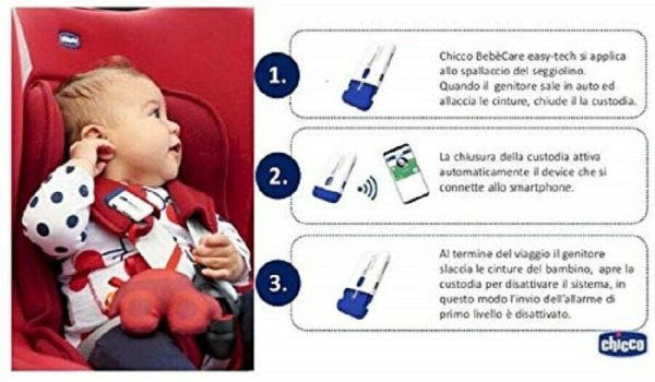 Chicco Dispositivo Anti Abbandono bambino auto universale per seggiolini auto