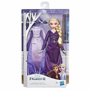 Hasbro Disney Frozen 2 Bambola Arendelle con 2 completi Camicia da notte Frozen