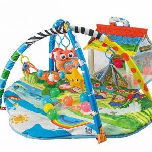 Tappeto Palestrina per Neonati Imbottita con giocattoli + 30 palline