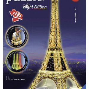 Tour Eiffel Puzzle 3D con Led colorate.