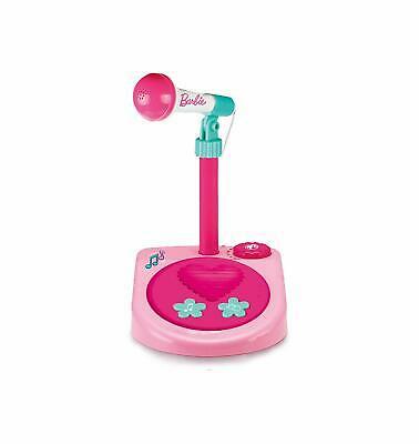 Barbie Microfono da palco con Asta Regolabile in Altezza Colore Rosa